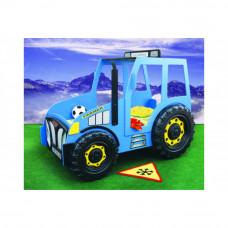 Inlea4Fun dětská postýlka Traktor - modrá Preview