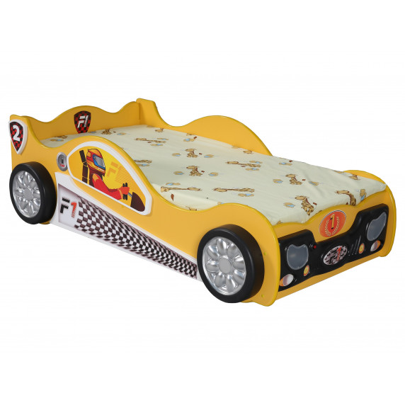 Dětská postýlka Monza Mini Inlea4Fun - žlutá