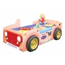 Inlea4Fun Dětská postýlka Jeep - růžová Preview