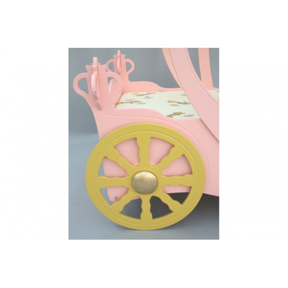 Dětská postýlka princeznovský kočár Inlea4Fun - ružová