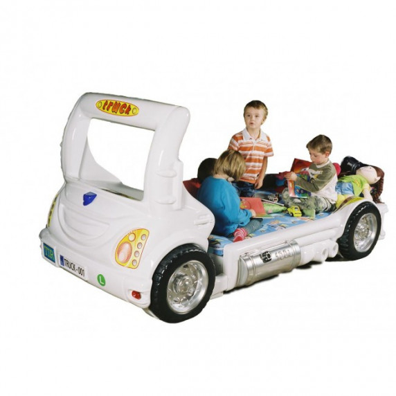 Dětská postýlka Inlea4Fun Truck - bílá