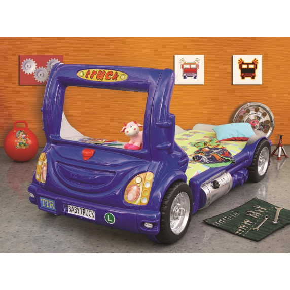 Dětská postýlka Inlea4Fun Truck - modrá
