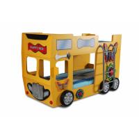 Dětská patrová postýlka Inlea4Fun Happy Bus - žlutá