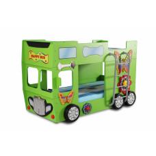 Dětská patrová postýlka Inlea4Fun Happy Bus - zelená Preview