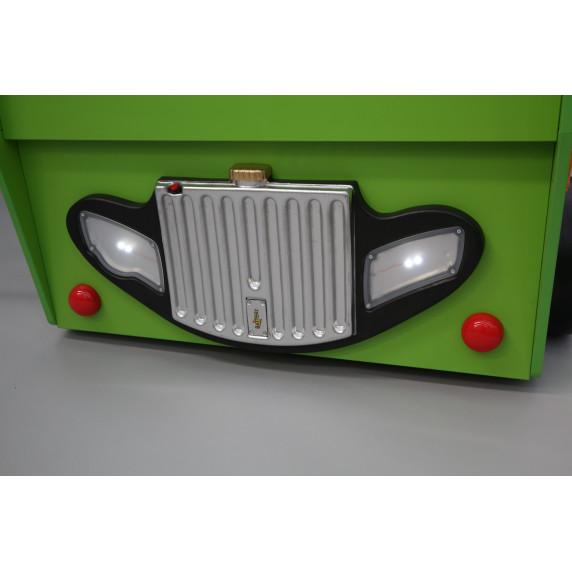 Dětská patrová postýlka Inlea4Fun Happy Bus - zelená