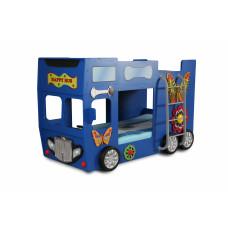 Dětská patrová postýlka Inlea4Fun Happy Bus - modrá Preview