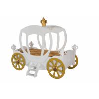 Dětská postýlka princeznovský kočár Inlea4Fun - bílá