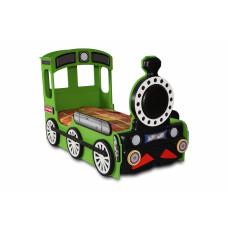 Dětská postýlka Lokomotiva Inlea4fun - Zelená Preview