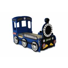 Dětská postýlka Lokomotiva Inlea4Fun - Modrá Preview