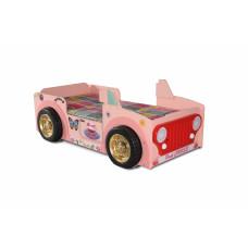 Dětská postýlka Inlea4Fun Jeep - růžová Preview