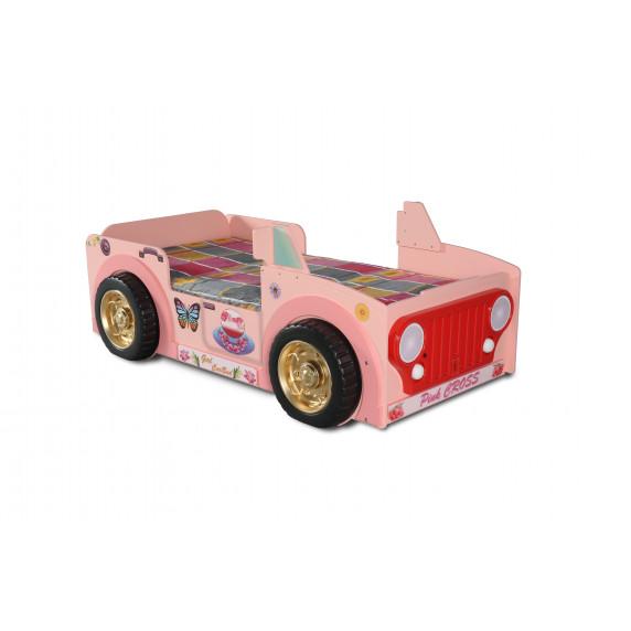 Dětská postýlka Inlea4Fun Jeep - růžová