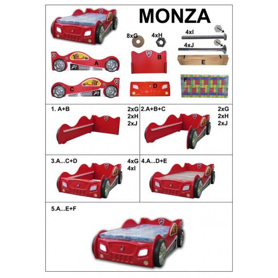 Dětská postýlka Monza - bílá