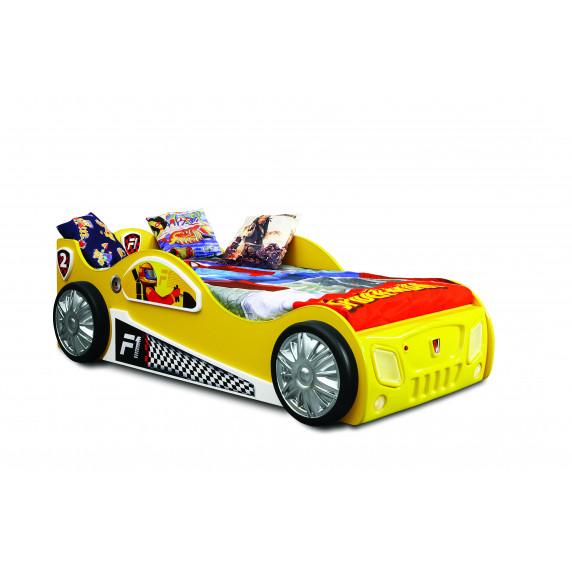 Dětská postýlka Inlea4Fun Monza - žlutá