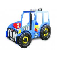 Dětská postýlka Traktor Inlea4Fun - modrá