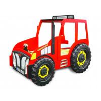 Dětská postýlka Traktor Inlea4Fun - červená