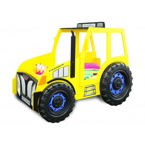 Dětská postýlka Traktor Inlea4Fun - žlutá