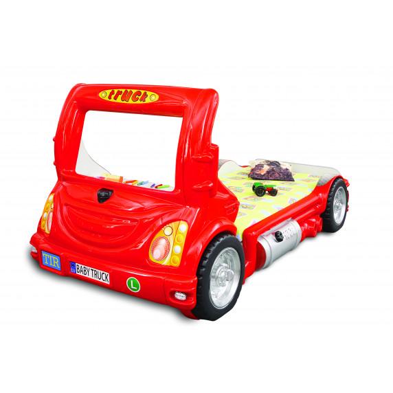 Dětská postýlka Inlea4Fun Truck - červená