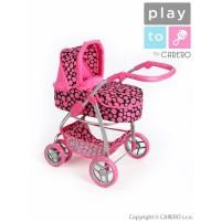 Multifunkční kočárek pro panenky PLAY TO Jasmínka růžový