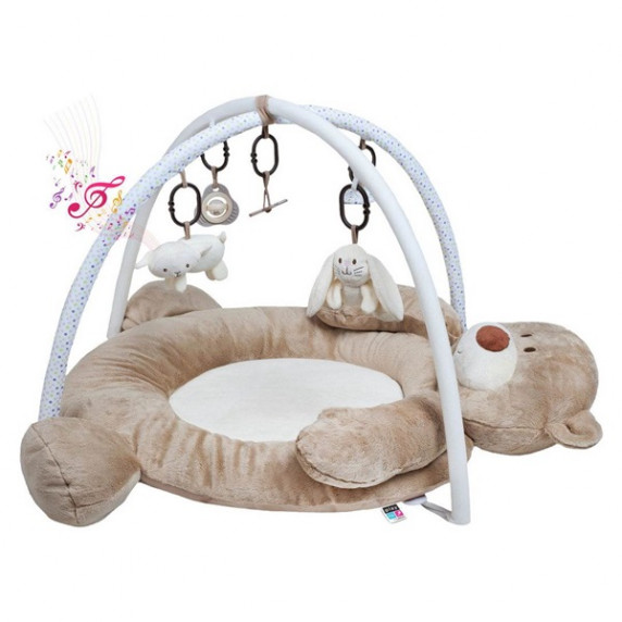 Playtime luxusní hrací deka s melodií - medvídek