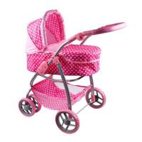 Multifunkční kočárek pro panenky Playtime Jasmínka růžový