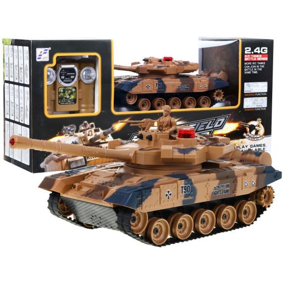 RC bojový tank LEOPARD 2 A6, 1:24 2,4GHz - Yellow