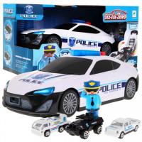 Policejní vozidla s figurkou se světelnými a zvukovými efekty Inlea4Fun POLICE GARAGE