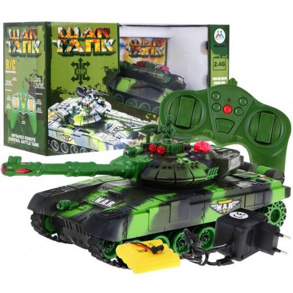 Tank na dálkové ovládání RC Tank WAR Camouflage - zelený
