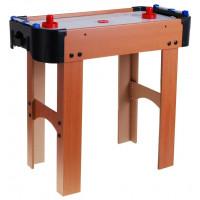 Stůl na stolní hokej Inlea4Fun Air Hockey - imitace dřeva