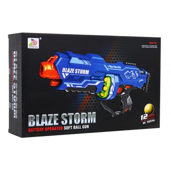 Dětská pistole s pěnovými kuličkami Inlea4Fun BLAZE STORM - modrá