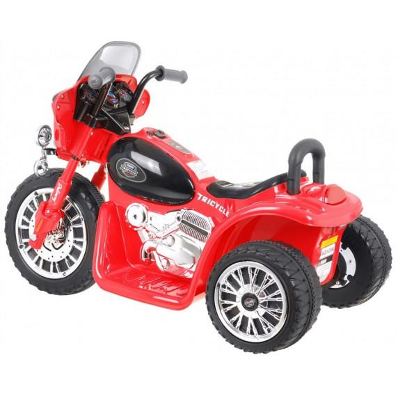 Dětská elektrická tříkolka Chopper - červená