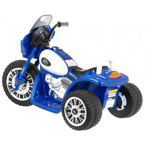Dětská elektrická tříkolka Chopper - modrá