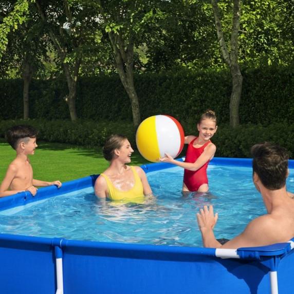 BESTWAY Steel Pro Frame rodinný bazén 400 x 211 x 81 cm + kartušová filtrace 56424