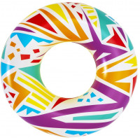 Nafukovací kruh Geometrické tvary 107 cm Bestway 36228 - bílé