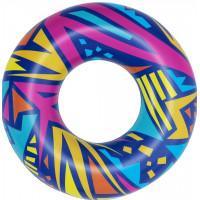 Nafukovací kruh Geometrické tvary 107 cm Bestway 36228 - modrý