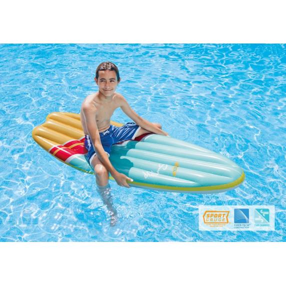 Nafukovací surfovací lehátko INTEX SURFS UP - modro - žluté