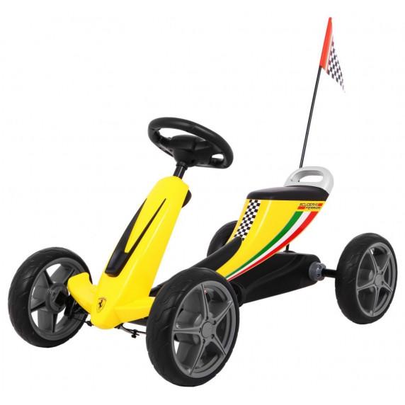Gokart s pedály FERRARI Inlea4Fun - žlutý