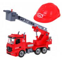 Dětské hasičské auto s přilbou Inlea4Fun DIY ASSEMBLY