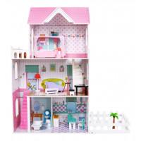 Inlea4Fun Dřevěný domeček pro panenky LOLA