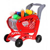 Inlea4Fun SHOPPING CART Nákupní vozík s potravinami - červený