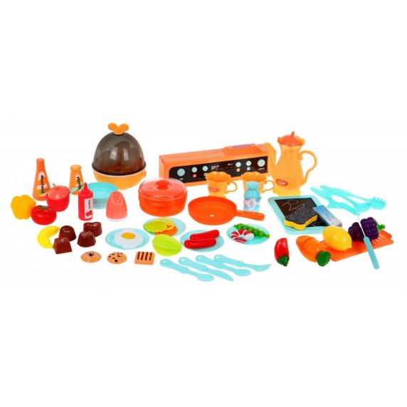 Inlea4Fun MODERN KITCHEN dětská kuchyňka se 65 doplňky - červená