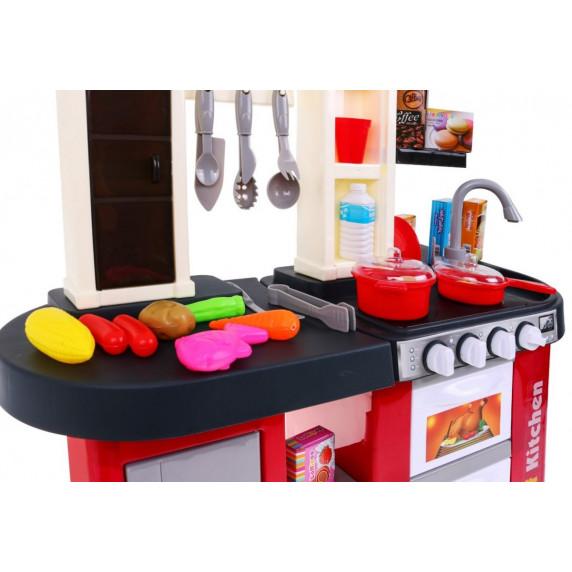 Inlea4Fun TALENTED CHEF Dětská kuchyňka se světelnými a zvukovými efekty s 58 doplňky - červená