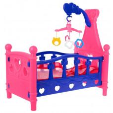 Inlea4Fun SLEEPING BED Postýlka pro panenky - růžová Preview