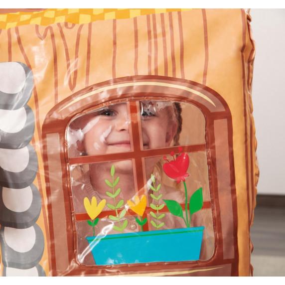 Dětský stan BESTWAY 52007 rozkladací žlutý domeček 102 x 76 x 114 cm