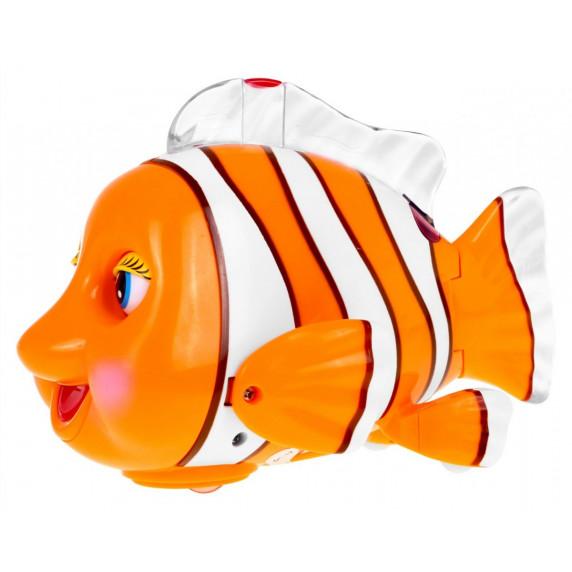 Utěkající rybička se světelnými a zvukovými efekty CLEVER CLOWNFISH Inlea4Fun