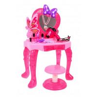 Inlea4Fun LITTLE PRINCESS Dětský toaletní stolek se židlí