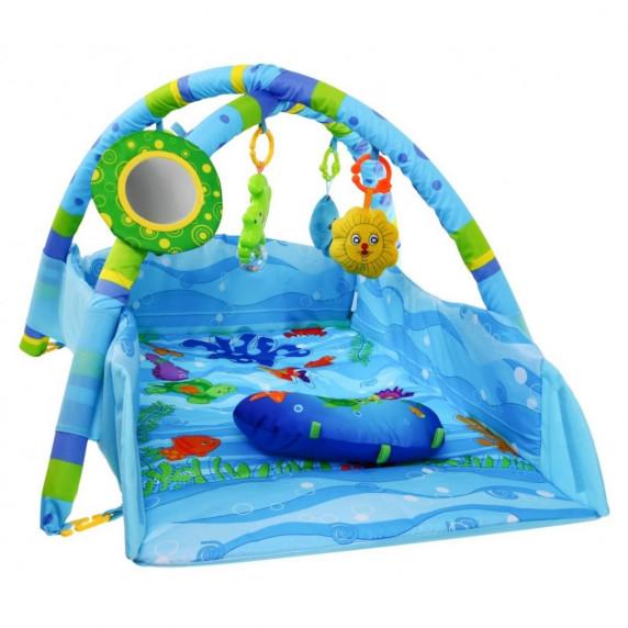 Inlea4Fun MATA Interaktivní hrací deka - modrá