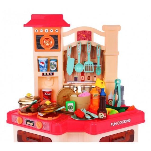 Dětská interaktivní kuchyňka s doplňky Inlea4Fun WESTERN KITCHEN
