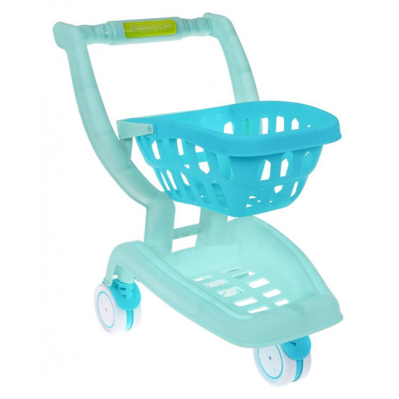Nákupní vozík s doplňky Inlea4Fun SHOPPING CART SERIES - modrý