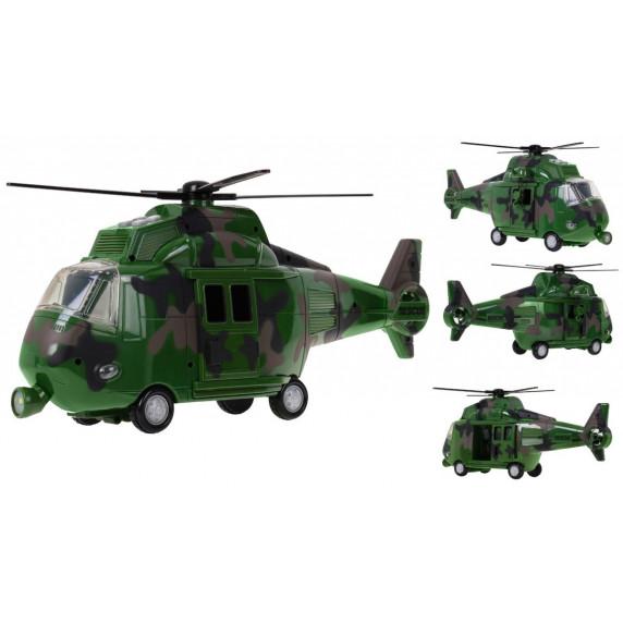 Vojenský vrtulník se svetelnými a zvukovými efekty Inlea4Fun MUSIC COPTER
