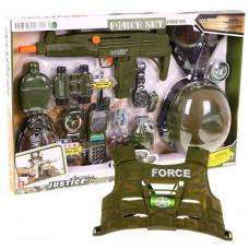 Inlea4Fun FORCE SET Policejní set pistole + maska + neprůstřelná + vesta zelený Preview